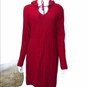 Athleta Wool Hooded Sweater Dress S